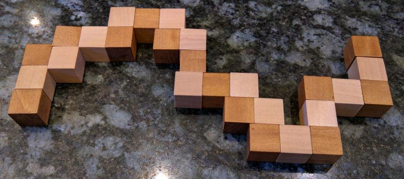Flat Snake Puzzle